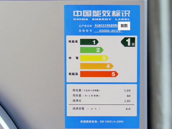 电器能耗不干胶标签
